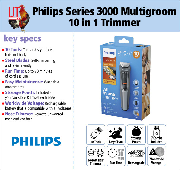 Philips Series 3000 Multigroom 10 in 1 Face, Hair and Body Grooming Trimmer for £29.95