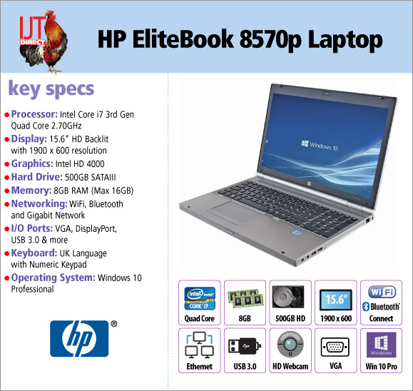 HP EliteBook 8570p 15.6\
